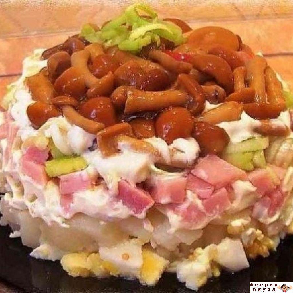 Салаты с лисичками рецепты с простые и вкусные на день рождения